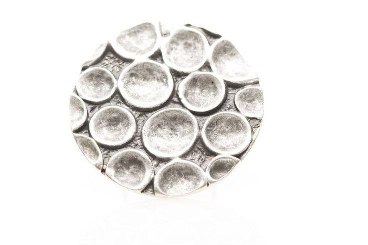 Antique Silver Tone Adjustable Fashion Ring Handmade-Osy112