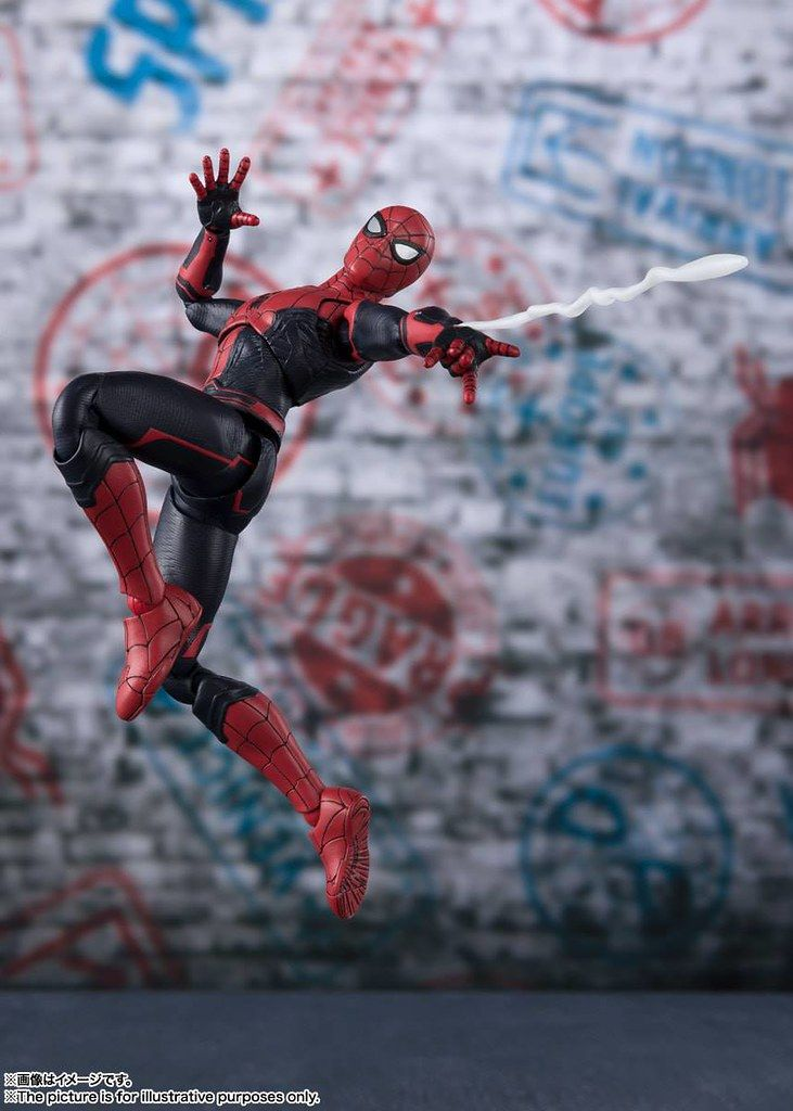 S H Figuarts Spiderman Far From Home Spiderman Action Figures Marvel Spiderman