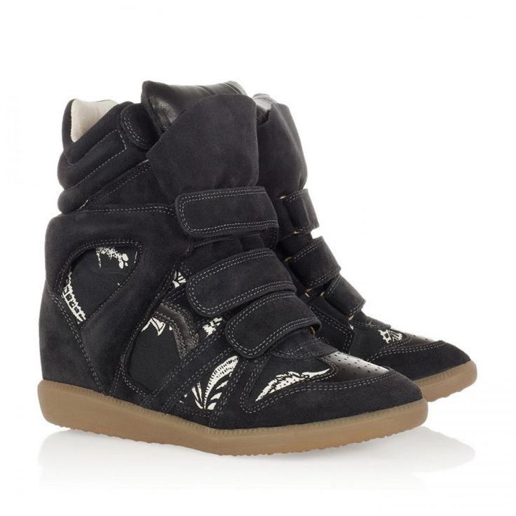 Toile Chaussures De Sport De Cale De Suède Isabel Marant Bobby 2eyZYa1tt