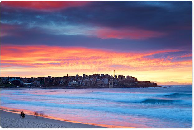 Bondi Beach has some amazing sunrises! Aug 2012 (winter in Australia).