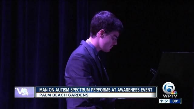 Jazz pianist on autism spectrum performs in Palm Beach Gardens  ||  An internationally-known jazz pianist on the autism spectrum was the highlight of a Sunday event in Palm Beach Gardens.  http://www.wptv.com/news/region-n-palm-beach-county/palm-beach-gardens/jazz-pianist-on-autism-spectrum-performs-in-pb-gardens?utm_campaign=crowdfire&utm_content=crowdfire&utm_medium=social&utm_source=pinterest  #autism #pianist  #musician  #music  #piano