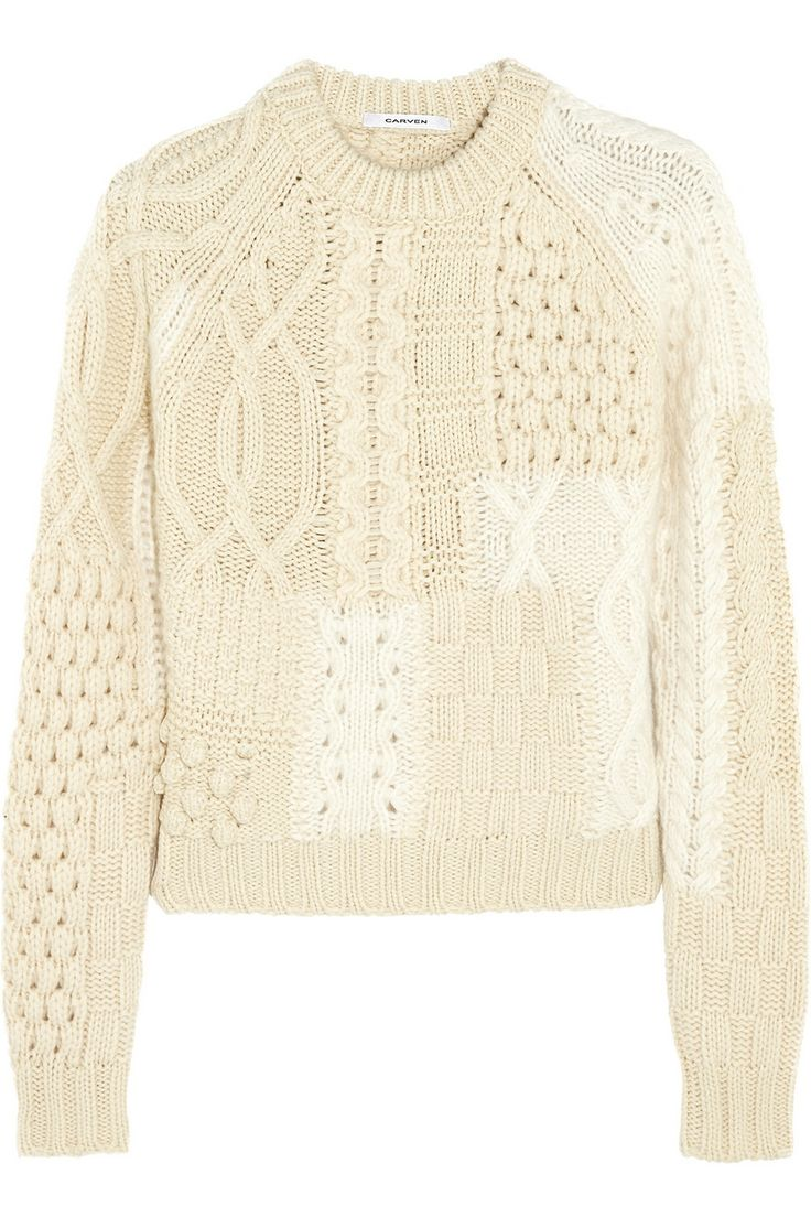 Carven|Zweifarbiger Pullover aus einer Merinowollmischung|NET-A-PORTER.COM