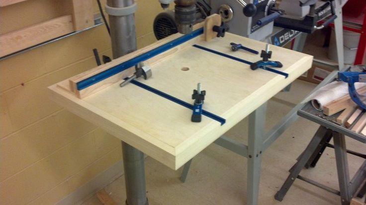Drill Press Table - by SgtRich @ LumberJocks.com ~ woodworking community