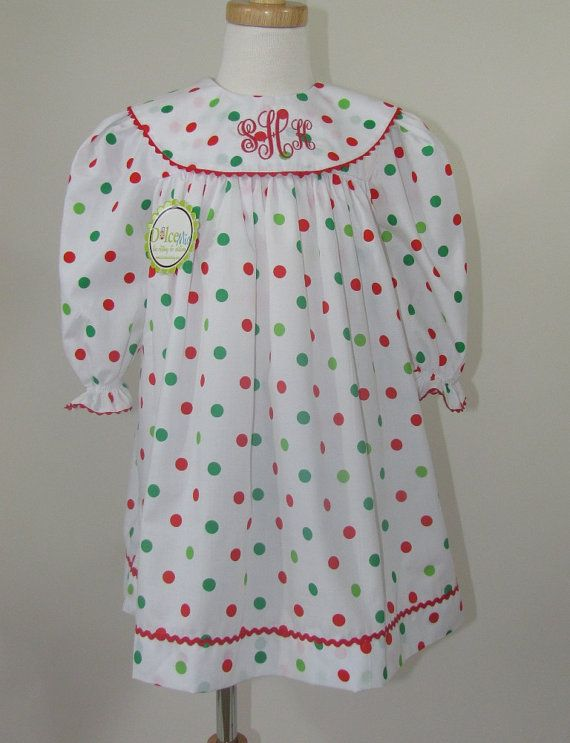 Christmas smocked bishop dress for Christmas