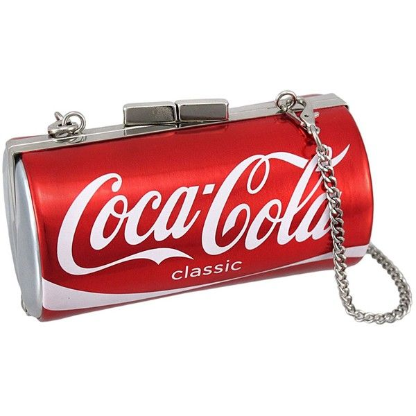 BBwraps Super Cute Graphic Coca-cola Small Clutch Purse Club Bag ($60) ❤ liked on Polyvore featuring bags, handbags, clutches, red purse, red handbags and red clutches