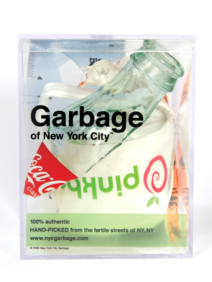 http://justingignac.com/ Justin Gignac is a New York City based artist and entrepreneur. He began selling garbage in 2001 after a co-worker challenged the importance of package design. To prove them wrong, he set out to find something that no one in their right mind would ever buy, and package it to sell.