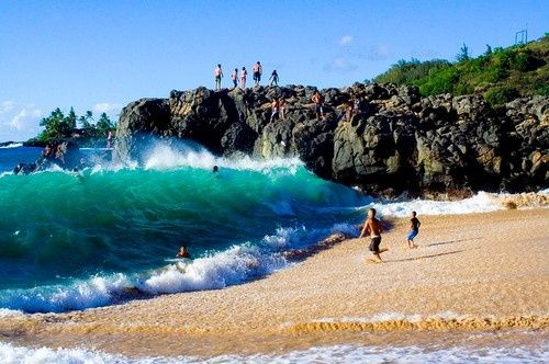 GOTTA BE POUNDERS BEACH     EAST SHORE OAHU  Nothing like getting pounded at Pounders. I love this beach.