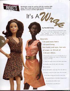 Barbie a Porter: Moldes para Barbie