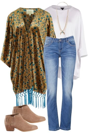 Boho Gal Outfit includes Tirelli, boho bird, and Therapy - Birdsnest Online Fashion Store