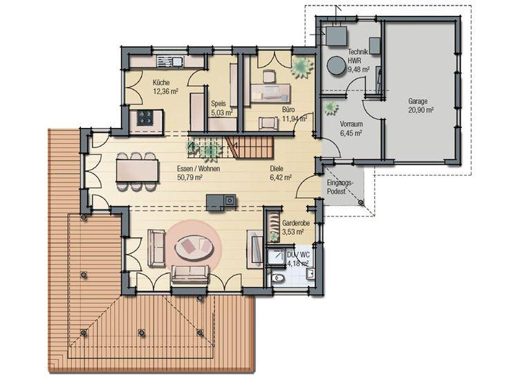 Haas fertighaus top line 440 grundriss h user und for Hausplan einfamilienhaus