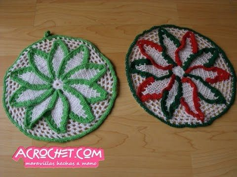 Posaollas o Tapetito de Navidad, ¿ustedes qué sugieren?   Blog a Crochet - ACrochet