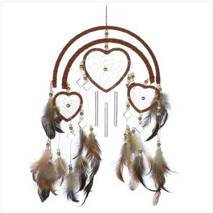 Dreamcatcher Heart Windchime | $12.95 | Lexi's Kreationz, LLC | http://lexiskreationz.storenvy.com/products/899743-dreamcatcher-heart-windchime