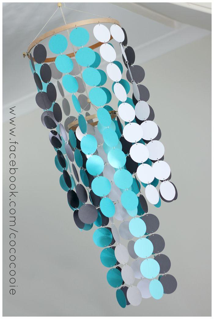 Turquoise & Grey Mobile - CUSTOM ORDERED