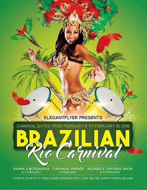 Brazilian Rio Carnival Free PSD Flyer Template - http://freepsdflyer.com/brazilian-rio-carnival-free-psd-flyer-template/ Enjoy downloading the Brazilian Rio Carnival Free PSD Flyer Template by Elegantflyer!  #Carnival, #Club, #Dance, #Event, #MardiGras, #Music, #Night, #Rio