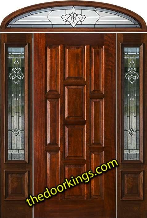 6 Panel Wood Door with sidelights and elliptical transom. The 10 panel layout is more & 77 best Door designs we love images on Pinterest | Door design ... Pezcame.Com