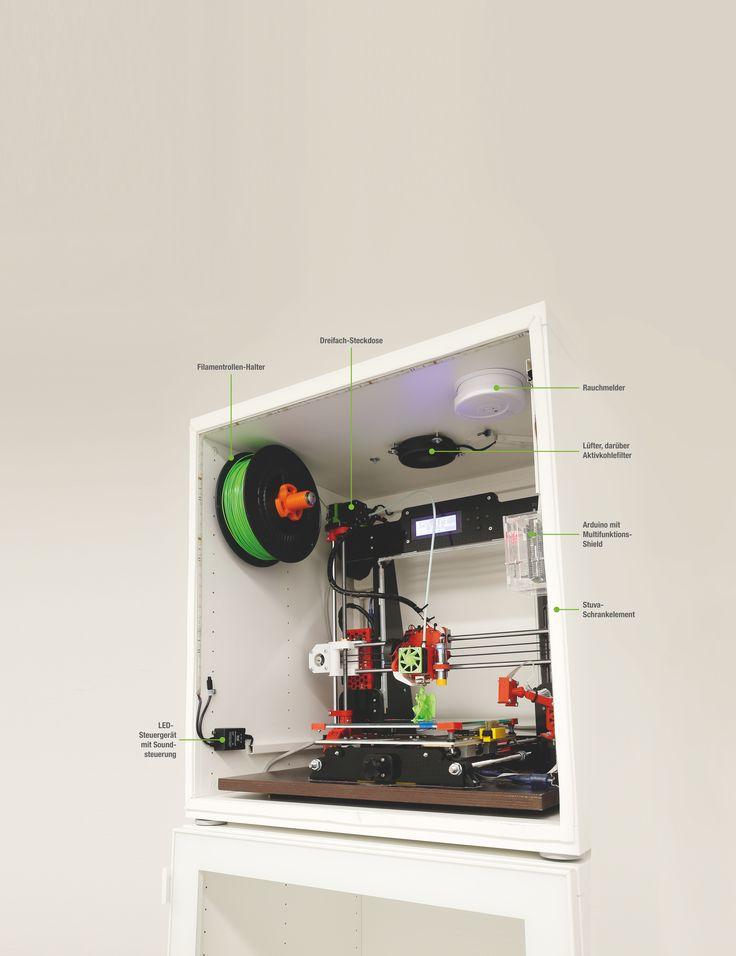 3DDruckerVitrine 3d drucker, Drucken und 3d druck
