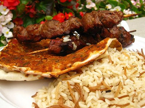 armenian food recipes with pictures | Lahmajun is Armenian food at the Armenian festival. Lahmajun, also ...