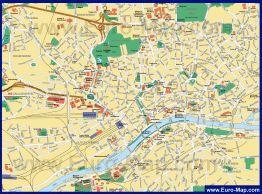 Карта города Франкфурт-на-Майне
