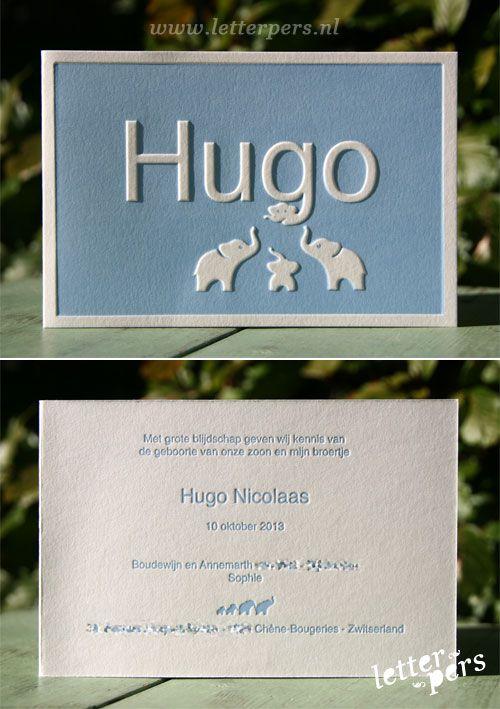 letterpers_letterpress_geboortekaartje_Hugo_blauw_olifantjes_preeg_lief