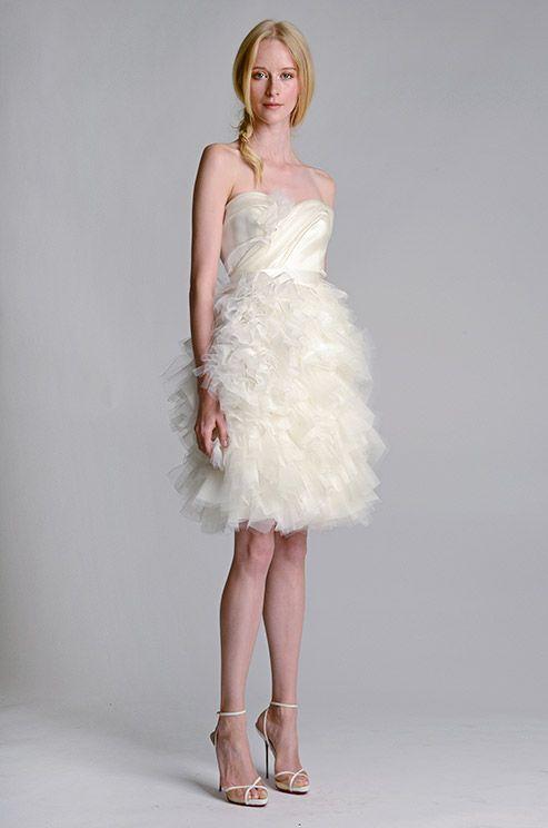 237 best short wedding dresses images on pinterest wedding frocks fluffy short wedding dress marchesa fall 2014 junglespirit Choice Image