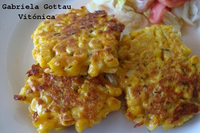 Croquetas de maíz y zanahoria. Receta saludable