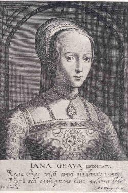 13th November 1553: On this day in history Lady Jane Grey, her husband Guildford Dudley, and Thomas Cranmer were tried at Guildhall. All were found guilty of treason and sentenced to death.