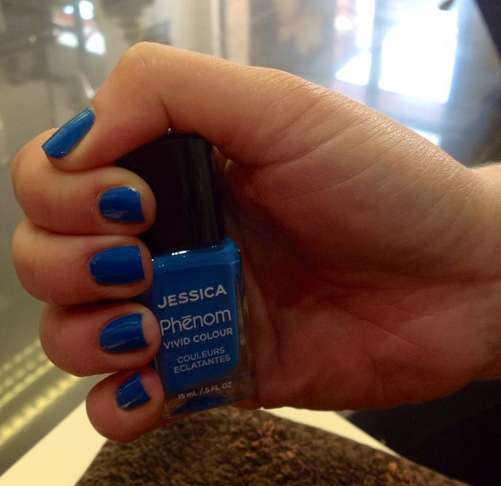 Jessica Phenom in Fountain Bleu. Manicure by Envy Hairdressers Thatcham.