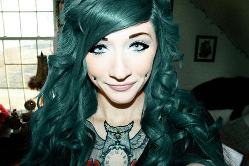 17 Best images about Dark Green Hair on Pinterest | Dark ...