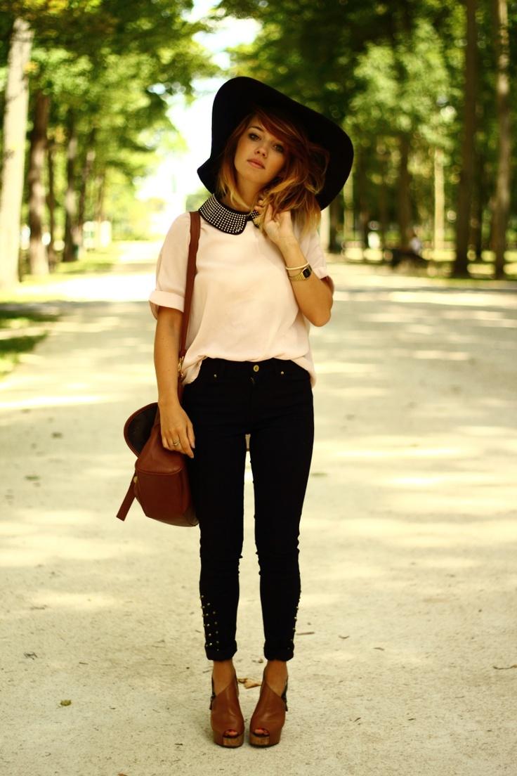big black floppy hat + collar + wedge. | Clothing ...