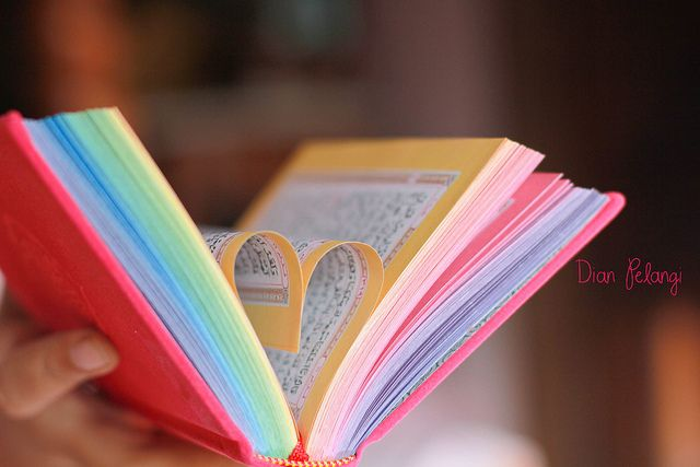 Quran ... the rainbow colour is optional ;) but it's so pretty mashallah.