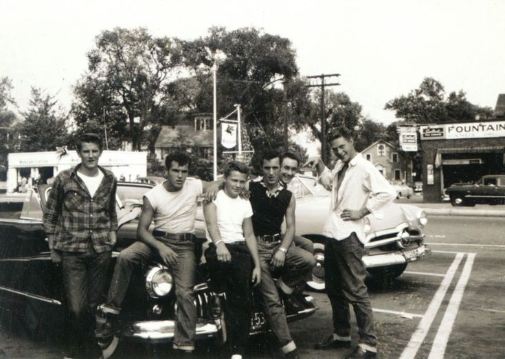 50's greasers- I like the guy 2nd from left