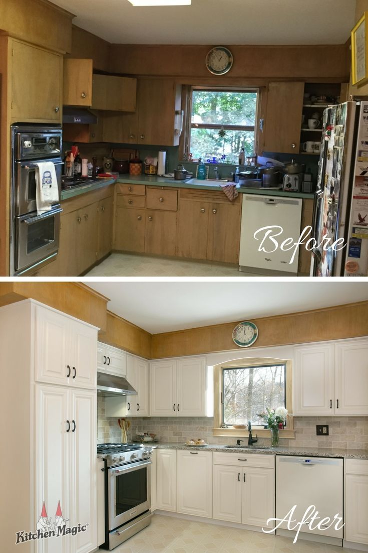 This Week S Before And After Transformation Is A Perfect Example Of How Impressive The Results Of Cabinet Refacing Can Be Cabinet Refacing Cabinet Kitchen
