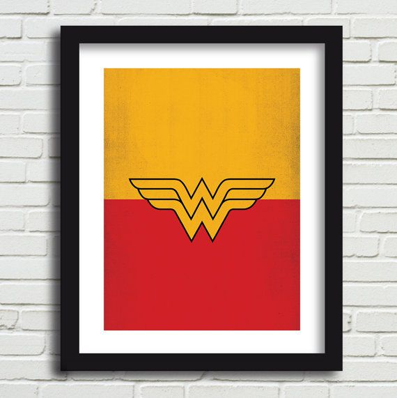 Printable Art Comic Book Superhero Art Print Wonder Woman Minimalist DC Comic Batman Poster Marvel Comic Avengers Comic Art Superman Print