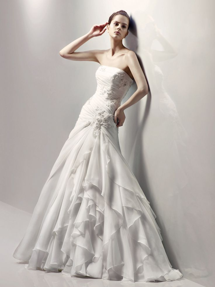 Organza Strapless Ruched Bodice New Bridal Wedding Dress With Consignment Dresses Edmonton