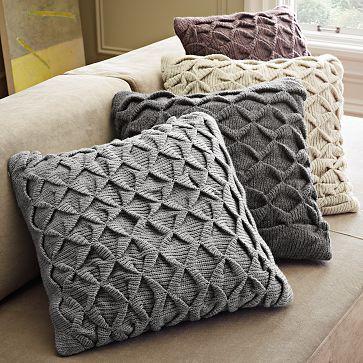 Sculpted Origami Pillow Cover #WilliamsSonoma