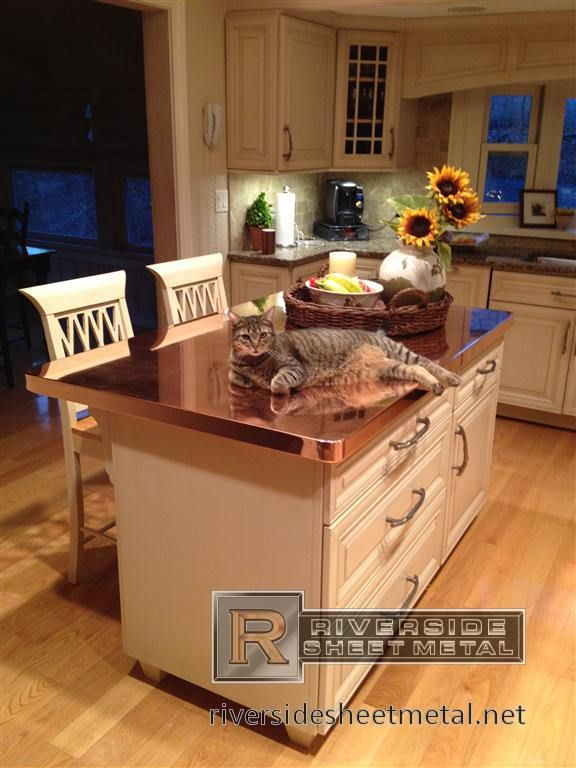 Copper Counter Tops   Modern   Kitchen Countertops   Boston   By Riverside Sheet  Metal U0026 Contracting Inc.