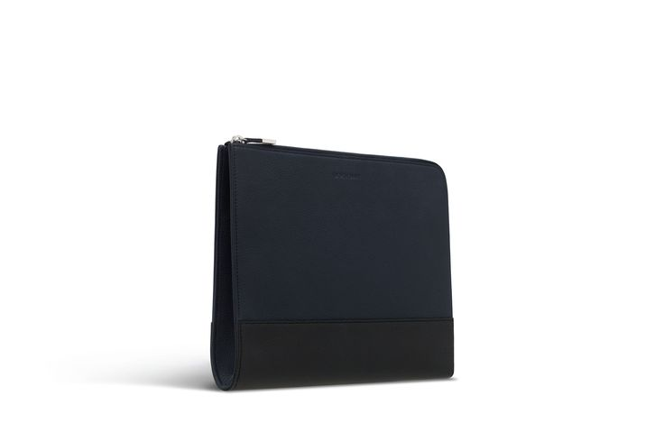 Black and navy blue leather portfolio - Dior