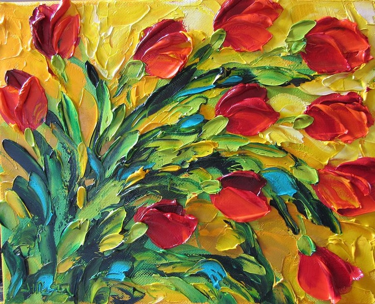 Tulips Painting by Jan Ironside