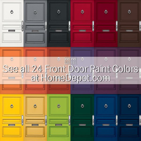 All 24 Colors Of Our Non Fade Front Door Paint Are Now Available At  HomeDepot