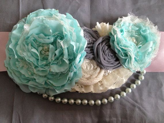 Maternity sash/Belly belt/Photography prop/Embellished sash