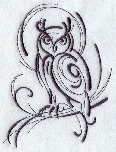 I think I'd like this or something similar to this as a tattoo... all of my tattoos are simple and are just line work... this would absolutely fit into my 'style' of tattoos I have and I like plus it's an owl! I really like this one... it says something to me that I like... Idk...maybe I'm officially going crazy! lol: