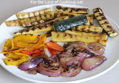 ... Love of Cooking » Mediterranean Orzo Salad with Grilled Vegetables