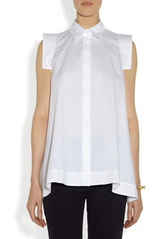 Marni | Cotton-poplin A-line shirt