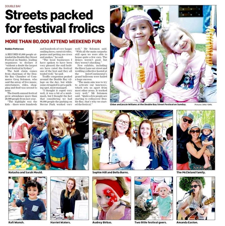 Wentworth Courier Write up of 2014 Double Bay Festival