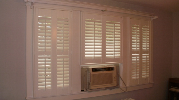 Shutters Built Around Air Conditioner Home Home