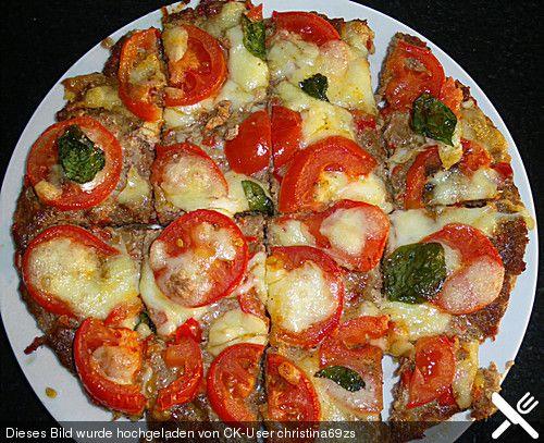 Hackfleisch-Pizza