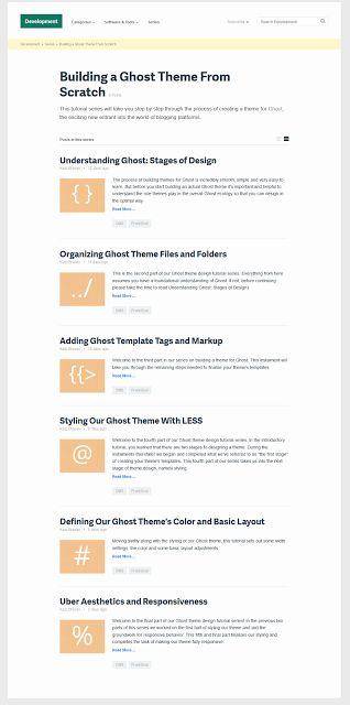 Best #Tutorial #Collection for #Ghost Blogging Platform | #CreativeInspira
