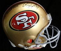 Colin Kaepernick Autographed San Francisco 49'ers Full Size Authentic Proline Helmet With Stats TriStar