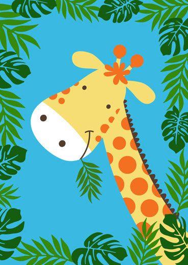 Childrens jungle print set animal print set by BubbleGumYears