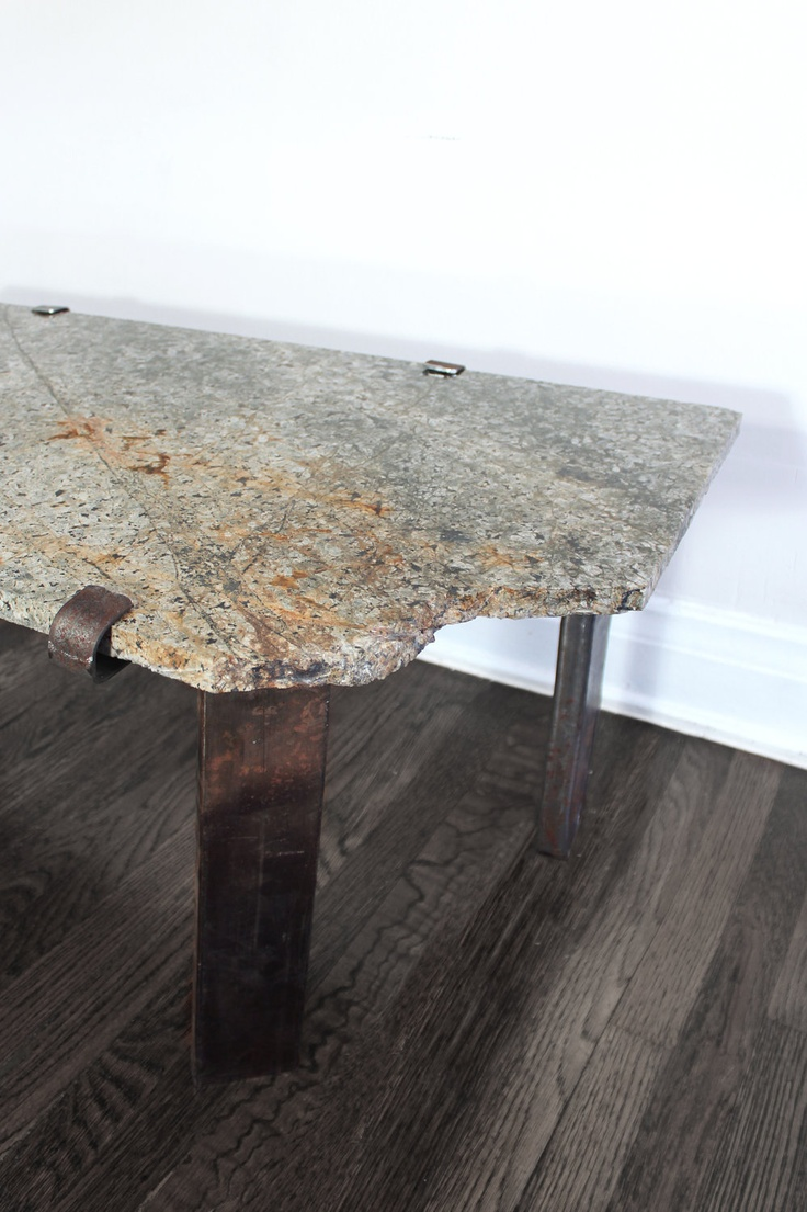 Nice Stone And Steel Industrial Welded Side Table. $325.00, Via Etsy. Amazing Design